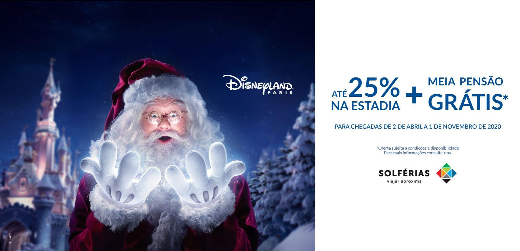 Disneyland®Paris: Alojamento+Entradas (02.04.20 a 30.09.21)