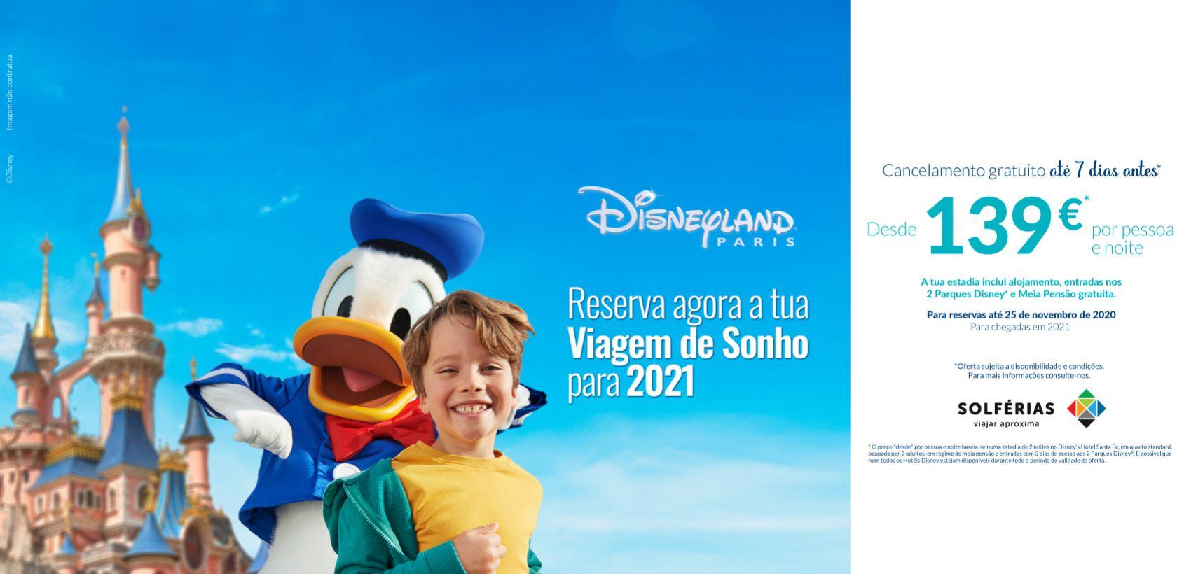 Disneyland®Paris: Programa com Avião